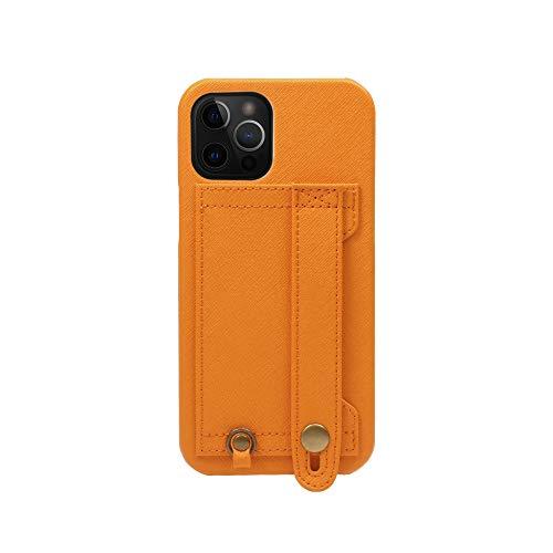[HANATORA] iPhone12 Pro Max ケース Handy ハードケース PUレザー 落下防止 耐衝撃 スタンド機能 ハンディ...