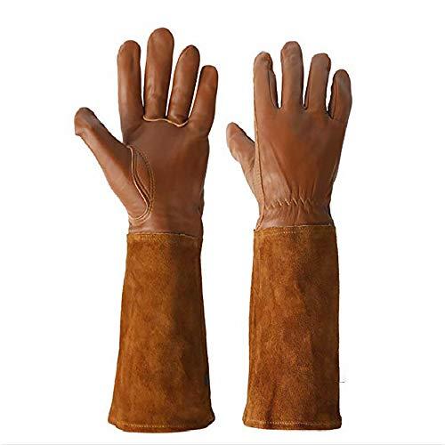 1 Paar lange Lammfell-Handschuhe für Gartenarbeit, Schutz vor Schnittverletzungen, Schweißen