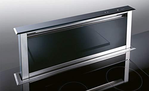 BEST Strip Glas EM (Externer Motor) versenkbare Haube/Edelstahl + Glas/Schwarz / 90 cm (BHD96050BA)