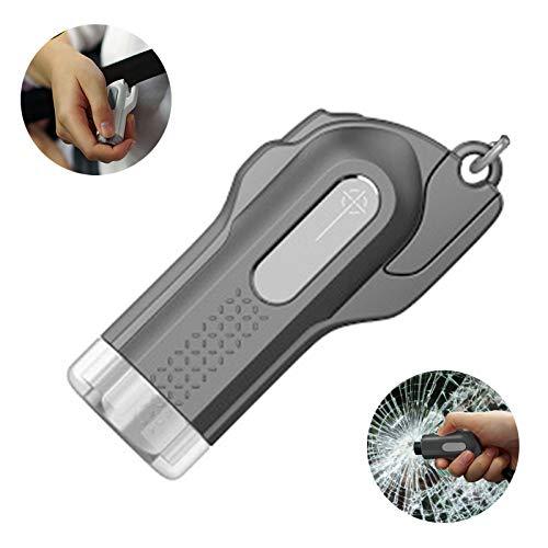 Glasbrecher Tragbarer Auto-Fensterbrecher Sicherheitsgurtschneider 2-in-1-Schlüsselring-Fluchtwerkzeug Fahrzeugsicherheit Glashammer