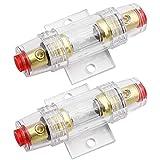 lbsamp agu portafusibile in linea/fusibili da 60a agu per auto audio alarm amplificatore compressori - 2 pz