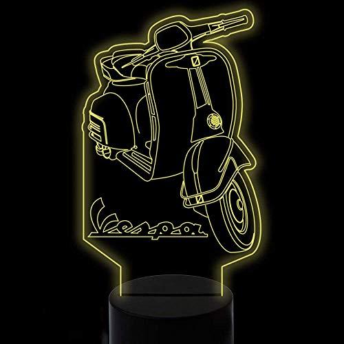 Nachtlicht 7 Farben Ändern 3D Visual Home Decor Roller LED Lamparas Nachtlichter USB Motorrad Kinder Touch Tischlampe für Beleuchtung Geschenke