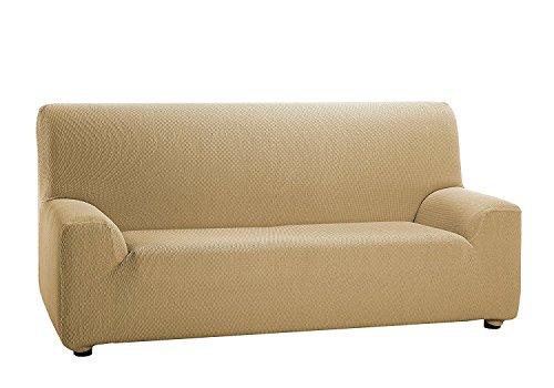 Texturas VIP- Funda de sofá Elástica Low Cost (Varios tamaños Disponibles) (1_Plaza_80_110_cms, Beige)