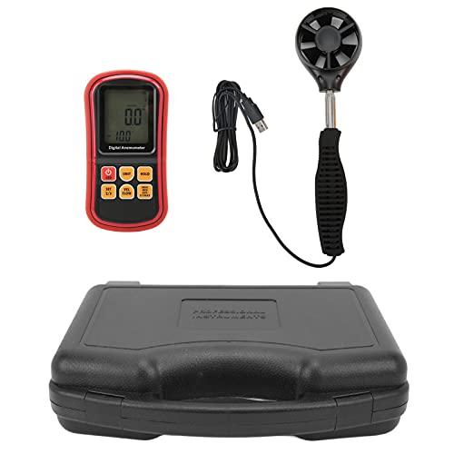 Anemometro 8909 Misuratore di Velocità del Flusso D'aria Misuratore di Velocità del Vento con Schermo LCD Retroilluminato Ad Alta Definizione per la Pesca a Vela Escursionismo