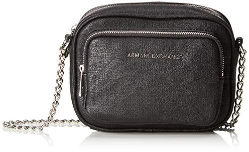 ARMANI EXCHANGE Small Cross Body Bag - Borse a tracolla Donna, Nero, 14.0x6.5x18.0 cm (B x H T)
