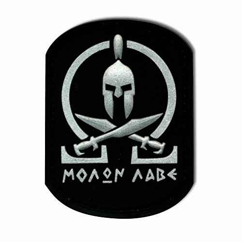 Jackets To Go 3D-Patch Molon Labe Spartan schwarz