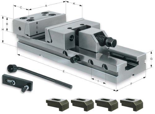RÖHM 161827 Maschinenschraubstock MSR 150 SPW aus legiertem Stahl, gehärtet, 200 mm