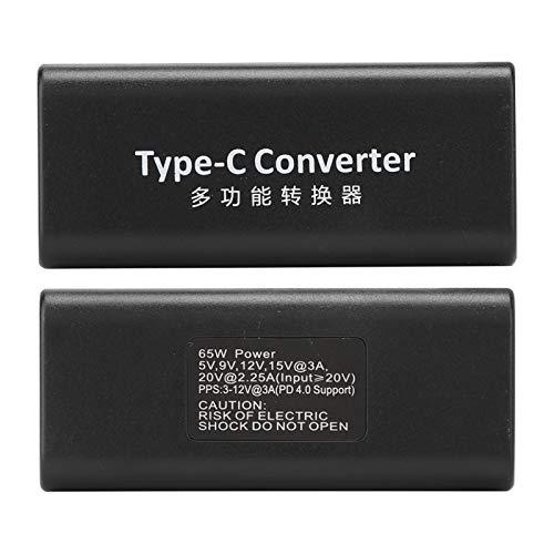 Socobeta Línea de conversión Adaptador de Corriente para computadora Hembra autoadaptable a Tipo-C para computadora portátil para teléfono Inteligente para Sistema