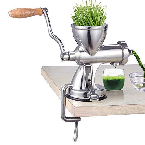 MinegRong Edelstahl Weizengras Juicer Manuelle Obst und Gemüse Weizen Samen Ingwer Granatapfel Presse Entsafter Manuelle Entsafter (Upgrade)