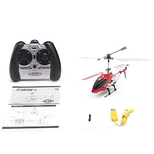 Peanutaoc Original Syma S107G Gyro Radio de Infrarrojos de Metal 3CH Mini helicóptero RC Mando a Distancia Flying Drone para Juguetes Regalo RTF