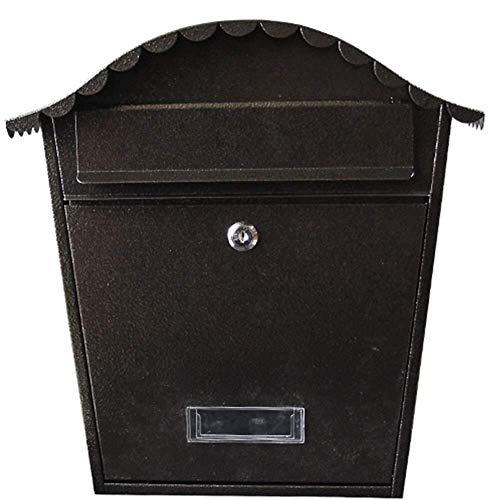 Mailbox Outdoor brievenbus - Creatieve muur opknoping waterdichte Iron Art House residentiële deur Letter doos, roestvast & weerbestendig muur mount brievenbussen Oranje Zwart Brons
