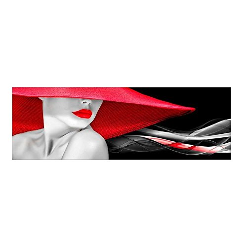 Quadro Moderno Lucido in plexiglass 50x150 cm Woman in Red