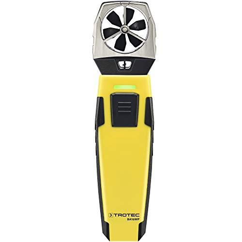 TROTEC BA16WP AppSensor Flügelrad-Anemometer mit Smartphone-Bedienung Flexibles Anemometer Luftgeschwindigkeit Luftvolumenstrom Lufttemperatur Messgerät