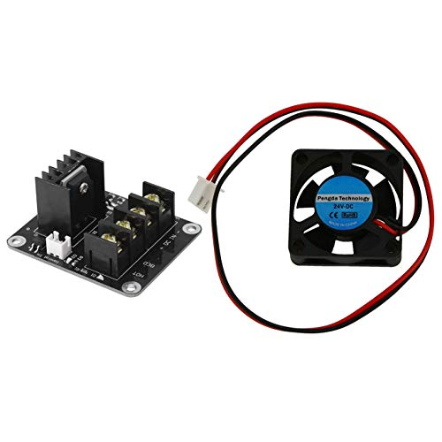 SNOWINSPRING 1 Pcs 3D Printer 24V Cooling Fan - 30Mm - Extruder Fan - RepRap with 1 Pcs 3D Printer Heated Bed Power Module 210A MOSFET Upgrade RAMPS 1.4