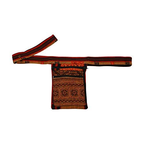 virblatt – Ethno und Hippie Gürteltasche Bauchtasche perfekt als Festival Tasche Hippie Mode und Alternative Kleidung - Nagaland