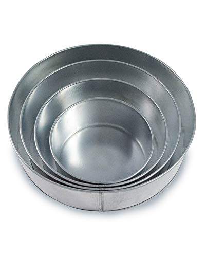 Set of 4 Tier Round Multilayer Birthday Wedding Anniversary Cake Tins/Cake Pans/Cake Moulds 6'.8'.10'.12' all 5' Deep