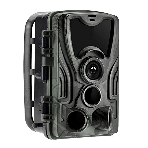 Jiaji HC801A Jagdkamera 16 MP Trail-Kamera IP65 Fotofalle 0,3 s Triggerzeit, wasserdicht, 940 nm Wildkamera mit 3 Infrarot-Sensoren, 1080P