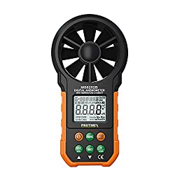 Protmex MS6252B Digital Handheld Anemometer for Measuring Wind Speed, Temperature with USB and Backlight