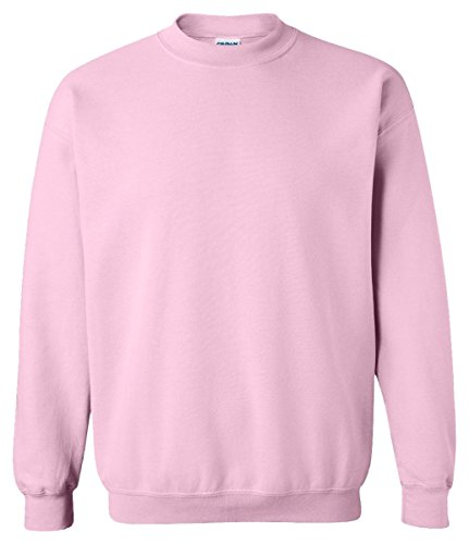 Gildan Activewear 50/50 Crewneck Sweatshirt, M, Light Pink