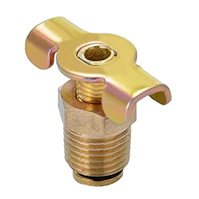 freneci Air Compressor Tank 1/4'' NPT Drain Plug Valve/Tap/Drain Cock with T-Handle from freneci