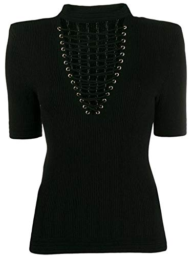 Luxury Fashion   Balmain Dames TF10299K0300PA Zwart Viscose T-shirts   Lente-zomer 20