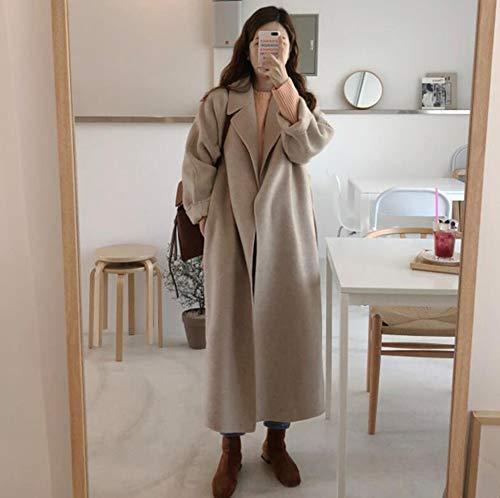 DAXINYANG Capa de Las Mujeres de Corea del Invierno Abrigo Largo Outwear Suelta más el tamaño de Las Rebecas de Manga Larga Manteau Femme Hiver Elegante