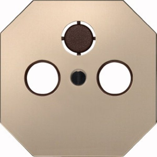 Merten 294342 Zentralplatte für Antennensteckdosen, bronzemetallic lackiert, OCTOCOLOR