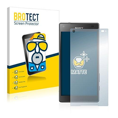 BROTECT 2X Entspiegelungs-Schutzfolie kompatibel mit Sony Xperia Z5 Compact Bildschirmschutz-Folie Matt, Anti-Reflex, Anti-Fingerprint