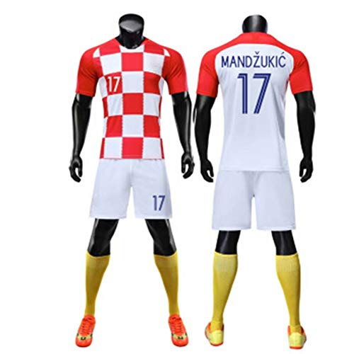 Fußballtrikot Jugend/Mann Mandzukic Fußballtrikot (Jugend/Erwachsener) / Rennen, Wettkampf, Training/Polyester/Fan-Trikot-A-L/S