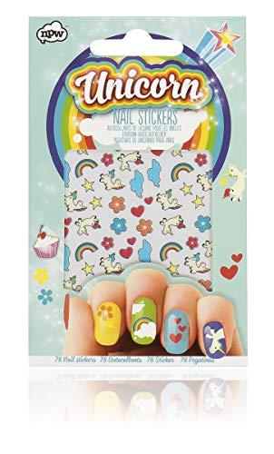 NPW Nagel-Kunst-Aufkleber-Abziehbilder - Packung mit 78 Unicorn Nagel Stickern