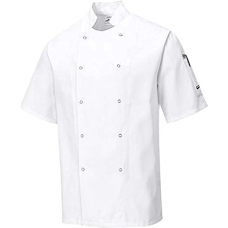Portwest Cumbria Chefs Jacket, Colour: White, Size: M, C733WHRM