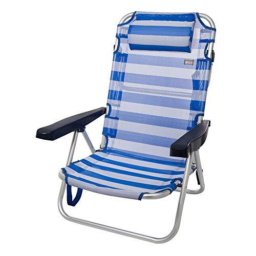 AKTIVE - Chaise Pliante, Multi-Position et en Aluminium Marinière