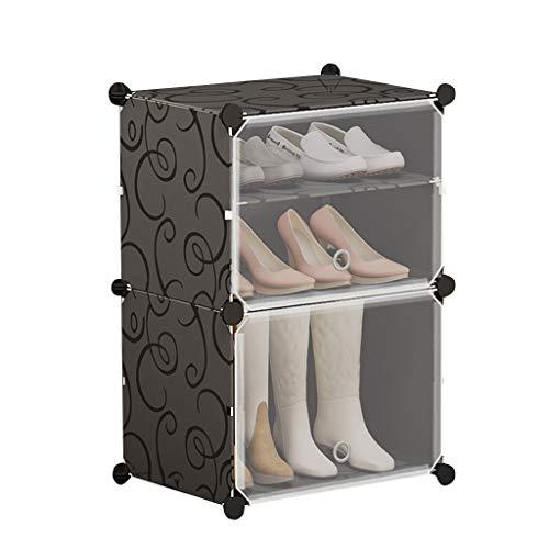 Xiuyun Porte-chaussures modulaire cube organisateur de chaussure emboîtable pour le placard couloir chambre (Color : A, Size : L)