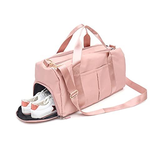 DOPN Turnhalle Sports Duffle Bag da viaggio, borsa impermeabile da viaggio, borsa da viaggio, borsa da spalla per donna, borsa per lo sport Tote Gym Back