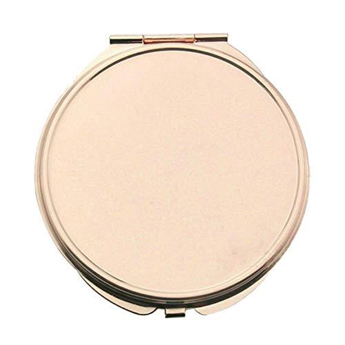 LASISZ Miroir de Maquillage Portable Mini Pocket Cosmetic Compact Mirror Pliable Double Sides Pocket Mirror Girl Beauty Tools, en Tant Que pic