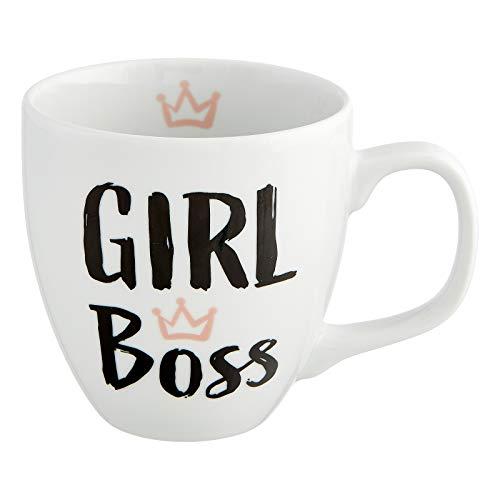 Him & I® - Jumbo Tasse mit Spruch Girl Boss - 9,5 cm - 0,45 l - Porzellan Tasse groß - Kaffeetasse - Kaffeebecher - Geschenk Idee für Beste Freundin, Mama, Schwester, Mädchen, Kollegin & Erzieherin