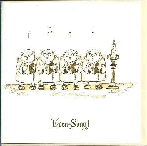 selbst-Song Singend Mönche unbeschriftete Gruß Karte