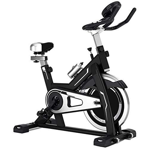 Bicicleta Ritmo Cardíaco Fitness Estacionario Ciclo Entrenador Indoor Ciclismo Bicicleta Ejercicio Spinning Bike con Pantalla LCD Entrenamiento en Interiores