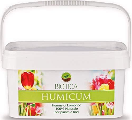 BIOTICA Humus de Lombriz HUMICUM – 5 L – Fertilizante 100% Natural – Orgánico y Ecológico