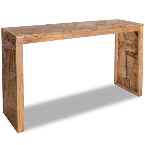 vidaXL Konsolentisch Erosion Teak Holz 120×35×76 cm Beistelltisch Tisch Anrichte