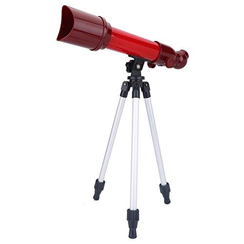 Tosuny Monokulares Teleskop tragbares astronomisches Teleskop mit verstellbarem Stativ und 40X-, 60X- und 80X-Okularen für Beobachtung von Himmel und Landschaft Geschenk für Kinder(rot)