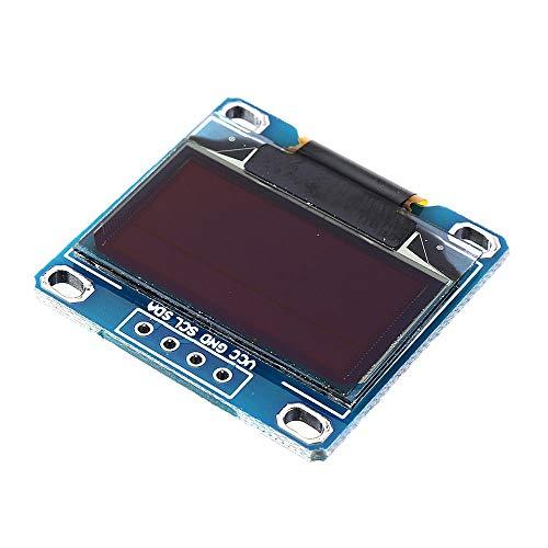 Elektronisches Modul 0,96-Zoll-OLED-I2C IIC LCD-Display-Modul + F-F Linie 12864 128x64 Anzeigemodul Geekcreit for A-r-d-u-i-n-o - Produkte, dass die Arbeit mit dem offiziellen A-r-d-u-i-n-o-Boards 10p