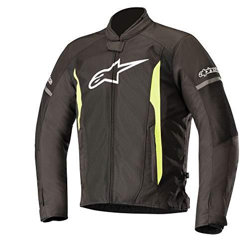 Alpinestars Men's T-Faster Air Motorcycle Jacket, Black/Yellow, X-Large