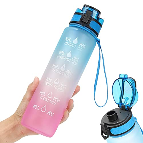 Deportes portátiles amistosos de Eco amistosos de la capacidad grande de la botella de agua del deporte 1l reutilizable