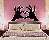 Decoración romántica calcomanía de Pared para el Dormitorio Principal Manos Hacer corazón Vinilo Pegatinas de Pared...