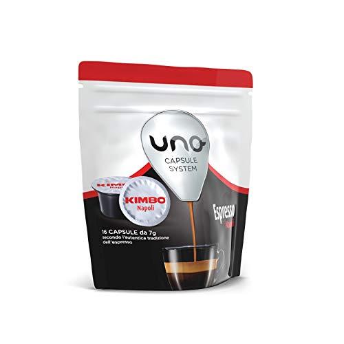 Kimbo Capsule di Caffè Espresso Napoli, Kimbo UNO System, 6 Pacchi da 16 Capsule (Totale 96 Capsule)