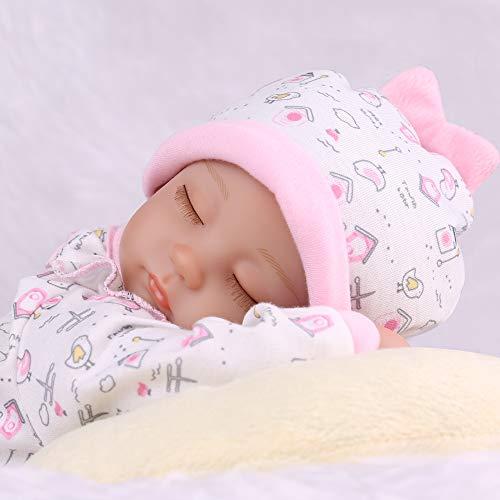 CHAREX Reborn Baby Dolls, 16 Inches Reborn Baby Girl, Silicone Vinyl Realistic Sleeping Reborn Baby DollsNewborn for Age 3+