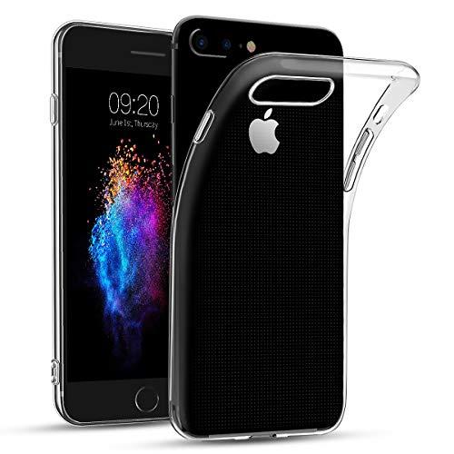 Bodyguard Hülle für iPhone 7 Plus / 8 Plus, [Crystal Clear] Transparent TPU Silikon Handyhülle, Ultra Dünn Soft Schutzhülle, Durchsichtige Weiche Rückschale Case Cover für iPhone 7 Plus 8 Plus