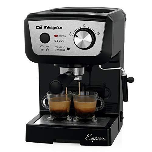 CAFETERA ESPRESSO ORBEGOZO EX 5000 - 1050W - 20 BAR - DEPOSITO DE AGUA 1.3L EXTRAÃBLE - PERMITE CAFÉ MOLIDO / MONODOSIS - VAPORIZADOR