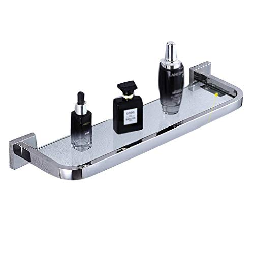 Lotion- & Seifenspender Badezimmerregale Badezimmerregale Duschwandregal Badezimmereckschrank Laden 8 kg (Farbe: Silber Größe: 40 * 14 * 5 cm)